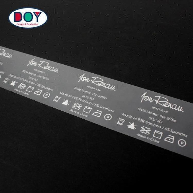 Custom Tagless Brand Logo Plastisol Printed Heat Transfer for Clothing