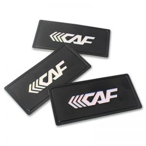 3D Embossed Letters Logo Adhesive Labels Soft PVC Rubber Patches