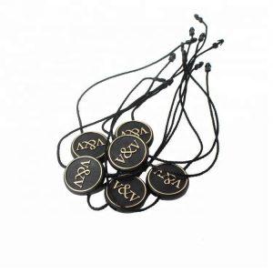 Custom Brand Logo Nylon Hang Tag Seal Plastic String Tag