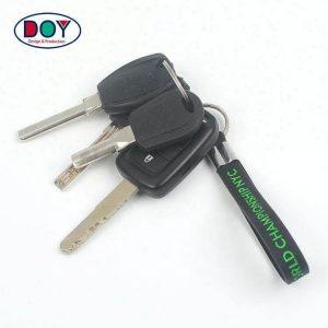 Custom Debossed Name Logo Soft PVC Silicone Wristband Keychain