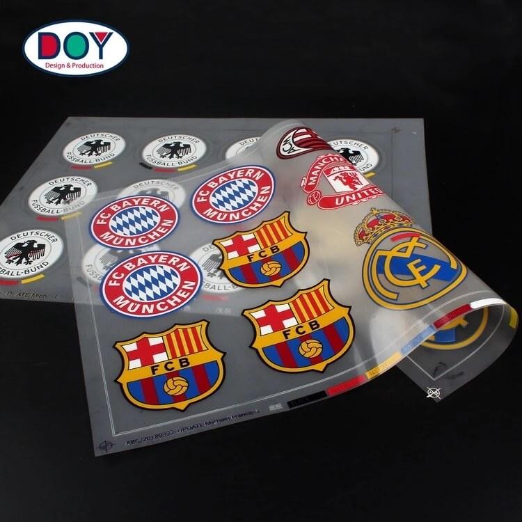 Design Custom 3D Football Club Logo Soft Rubber Silicone Heat Transfer Football Badges Sticker for Soccer Jerseys