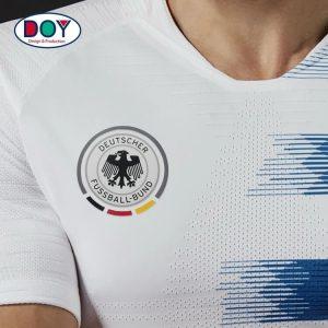Design 3D Football Club Logo Soft Rubber Heat Transfer Sticker
