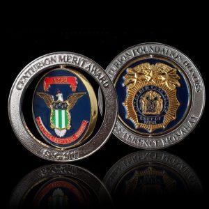 Promotional Custom Logo Metal Enamel Challenge Medal Coin