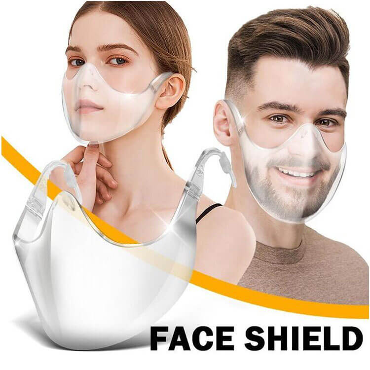 Durable Acrylic and PET Material Transparent Face Shield