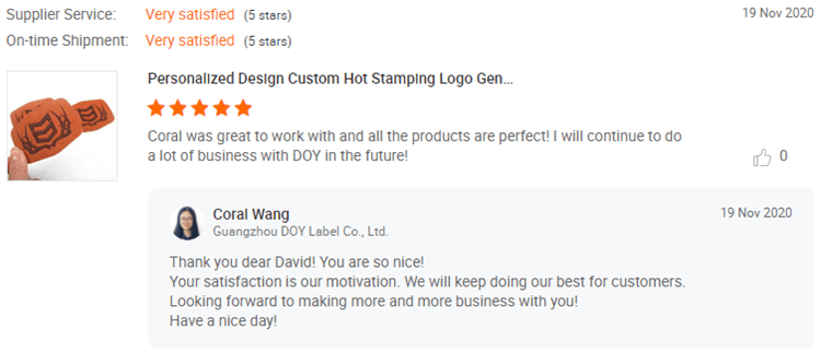 Leather Patches Customer Reviews-DOYLabel