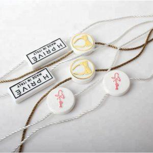 Factory Custom LOGO Lock Hang Tag Plastic Seal String For Garment
