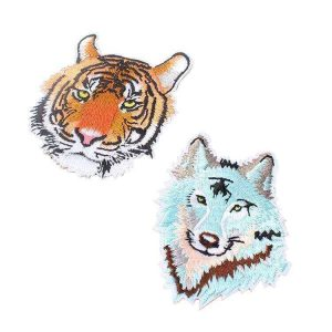 Factory Supply Custom 100% Machine Embroidered Logo Animal Patches
