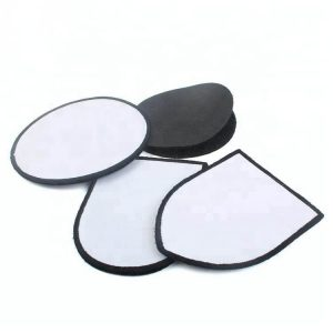Sublimation Heat Transfer Custom Fabric Blank Patches with Hook and Loop