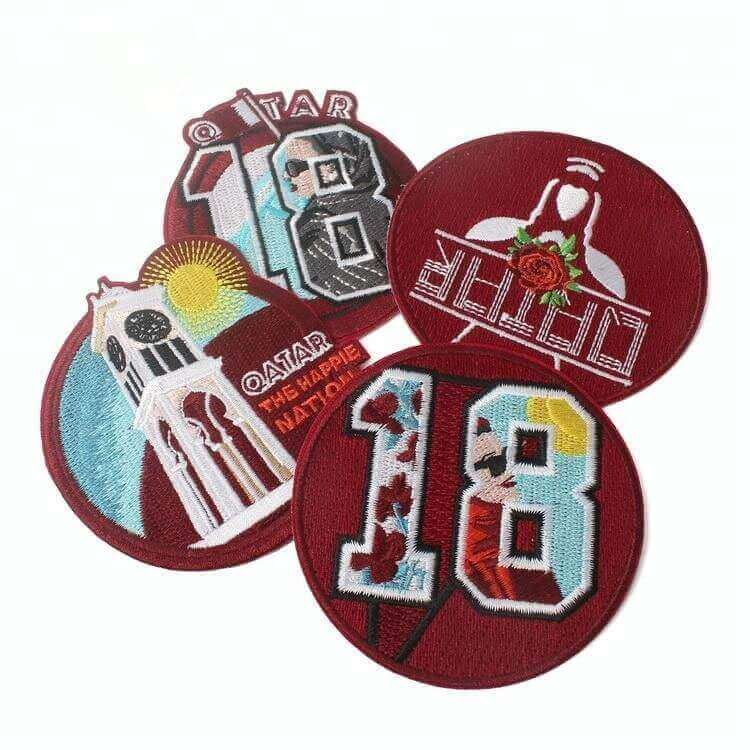 Fabric Embroidery Crest Patches