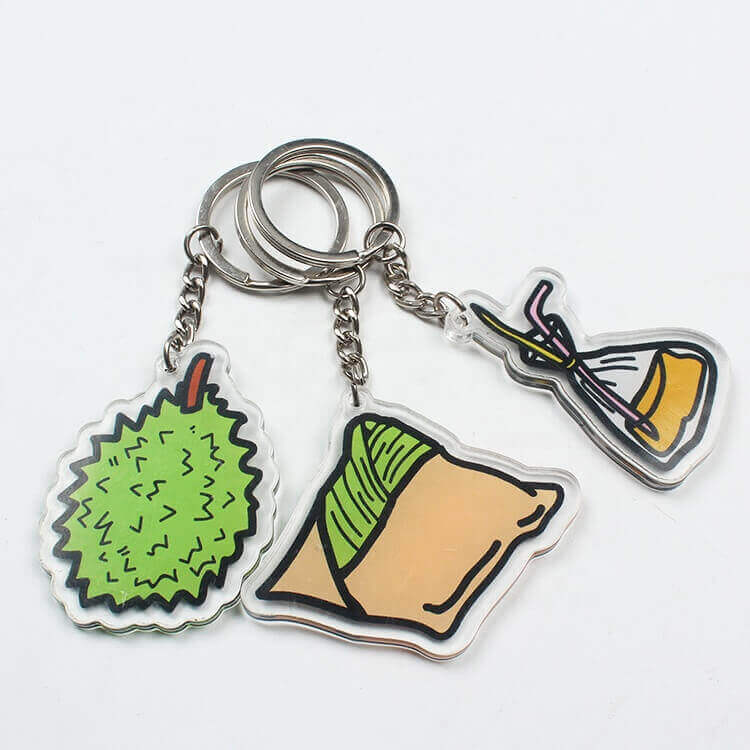 Factory Direct Price Wholesale Bag Acrylic Resin Keychains Charms with Custom Design DIY Logo