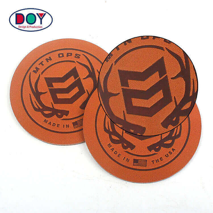 Factory Supply Custom Adhesive Heat Press Logo Soft Genuine Leather Patches
