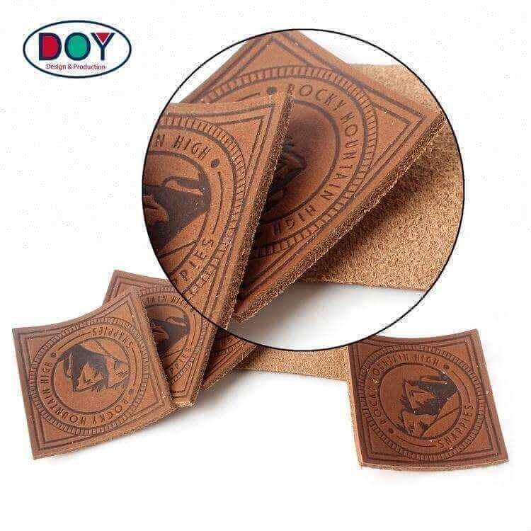 Garment Accessories Denim Patches Designer Custom Hand Made Logo Washable Real Genuine Leather Labels for Handbags and Hats
