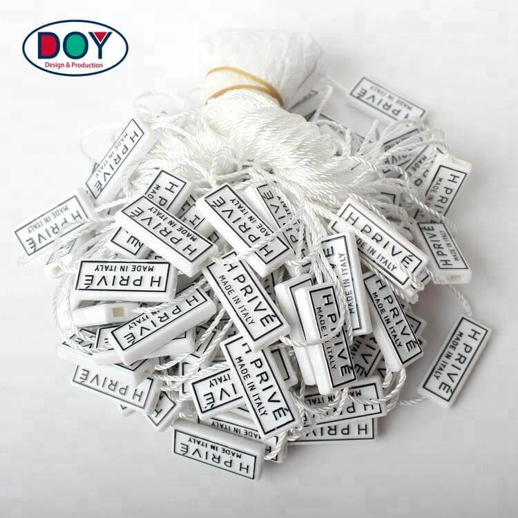 Hang tag plastic seal string for shoes, clothes