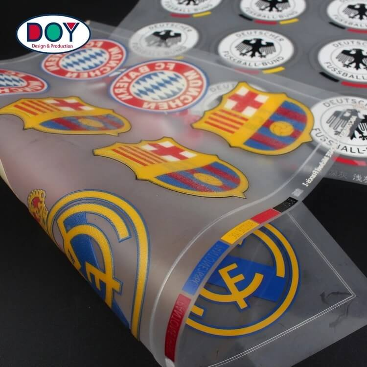 High Quality 3d rubber heat transfer logo silicone