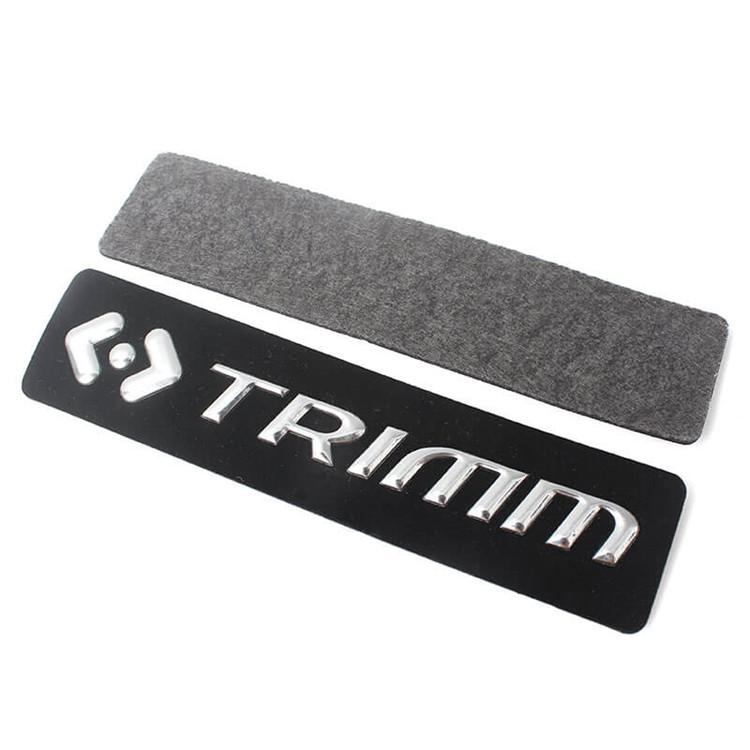Hot Sew On Custom High Quality Clothes Labels Embossed 3D PVC Logo Patches With Felt Fabric