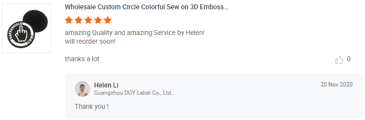 Rubber Patches Customer Review-DOYLabel