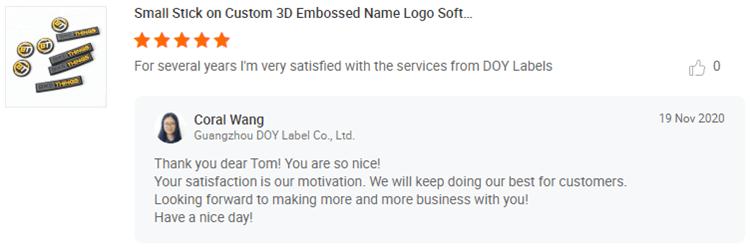 Rubber Patches Customer Reviews-DOYLabel.com