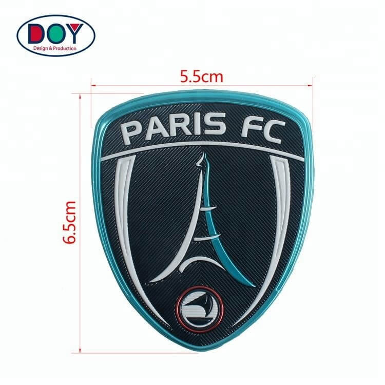 Iron On Custom Embossed 3D Logo Name Silver Plating High Frequency TPU Patches Labels for Uniforms (2)