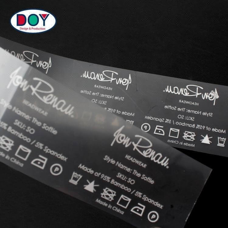 Iron On Screen Printing Heat Press Stickers Manufacturer Custom Logo T-shirt Heat Transfer Care Neck Labels