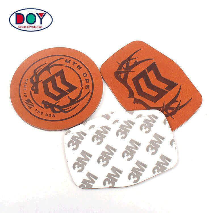 Labels Wholesale New Design Custom Heat Press Logo Adhesive Soft Genuine Leather Patches for Jeans