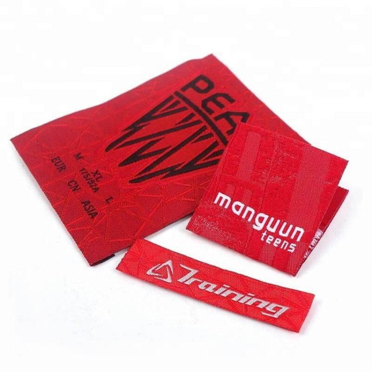 Luxury Garment Accessories Factory Design Custom Logo Clothes Collar Main Woven Labels for Shirt Suits