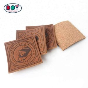 Custom Hot Stamping Logo Embossed Real Leather Labels Patches for Jeans