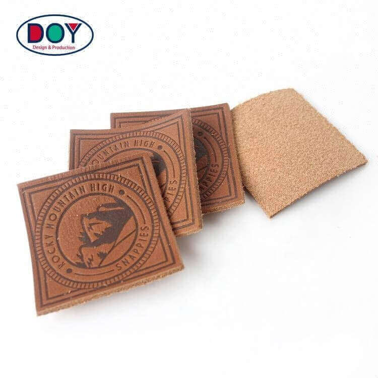 New Clothing Labels Wholesale Private Design Embossed Custom Brand Name Logo Repair Genuine Real Leather Patches for Shoes