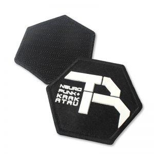 Embossed Merrowed Custom 3D Name Logo Silicon Felt Label