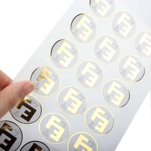 OEM Custom Foil Die Cut Logo Vinyl Strong Adhesive Sticker Labels for Jar