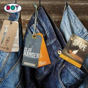 Custom Design Printing Name Logo Paper Hangtag Labels Clothing Hang Tags with String