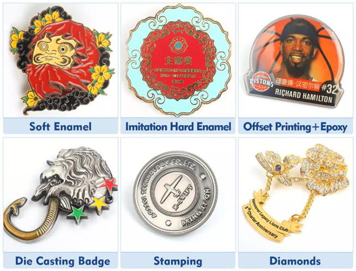 Metal Lapel Pins and Hat Clips product