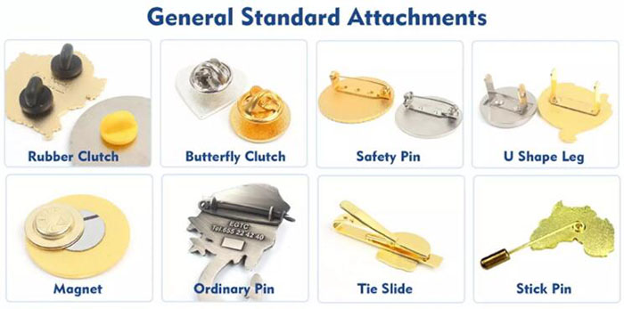 Metal Lapel Pins and Hat Clips Back processing