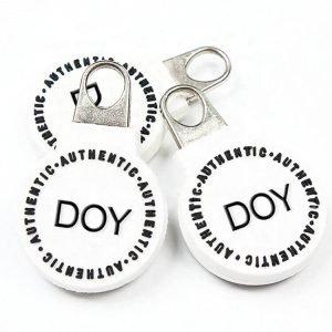 Custom Embossed Name Logo Soft PVC Zipper Pullers for Bags