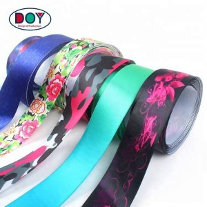 Wholesale Design Custom Logo Roll Sublimation Printed Satin Ribbon