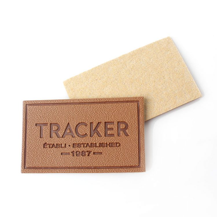 Sew On Custom Design Embossed Logo Small PU Leather Patches Labels