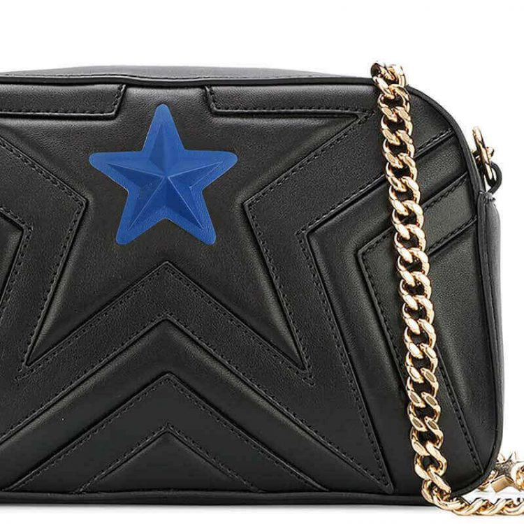 Sew on PVC Filling Pentagram High Frequency 3D Embossed PU Leather Star Patches for Bag and Clothing