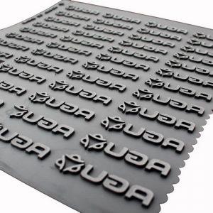 Custom 3D Raised Logo Silicon High Density Heat Transfer Labels