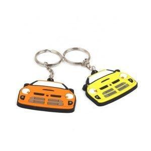 Custom Car Shape Soft PVC Silicone Rubber Key Ring Chains
