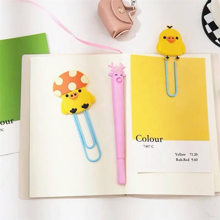 Soft Clear Transparent PVC Rubber Patches Paper Clip Wholesale Design Custom Rubber Patches