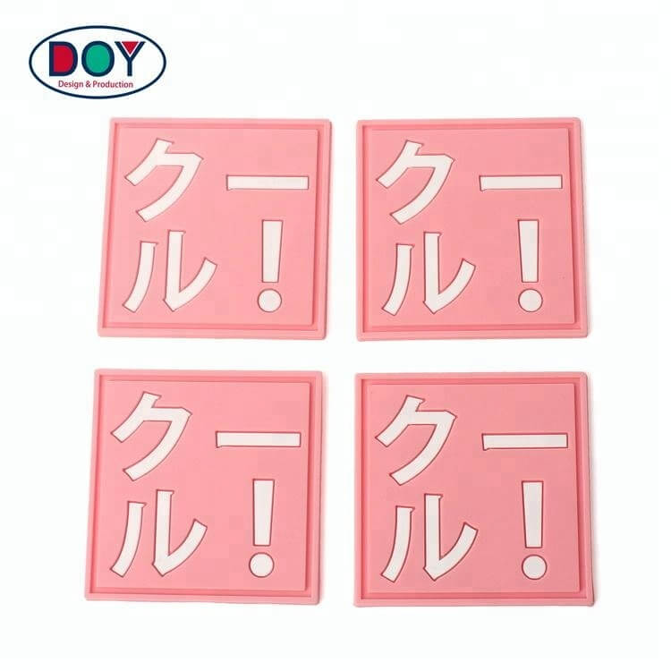 Soft PVC Rubber Clothing Label with Debossed Name Logo