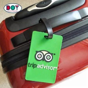 Custom Waterproof 3D Name Logo Soft PVC Rubber Travel Luggage Tags