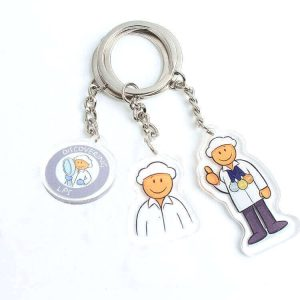 Souvenir Key Chain Manufacturer Design Acrylic Charm llavero Keychains with Custom Made Brand Logo