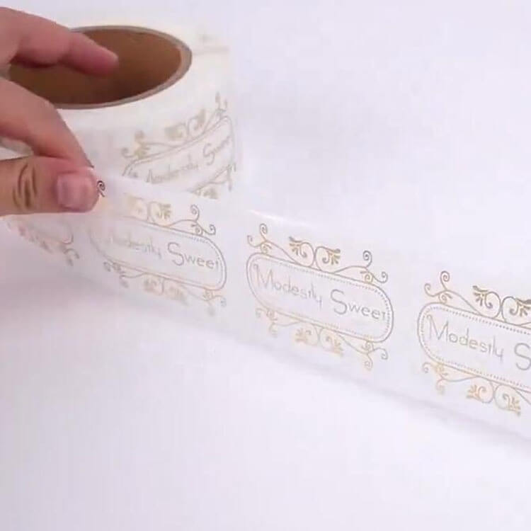 Sticker Label Maker Custom Printed Logo Waterproof Rose Gold Transparent Product Label for Gifts