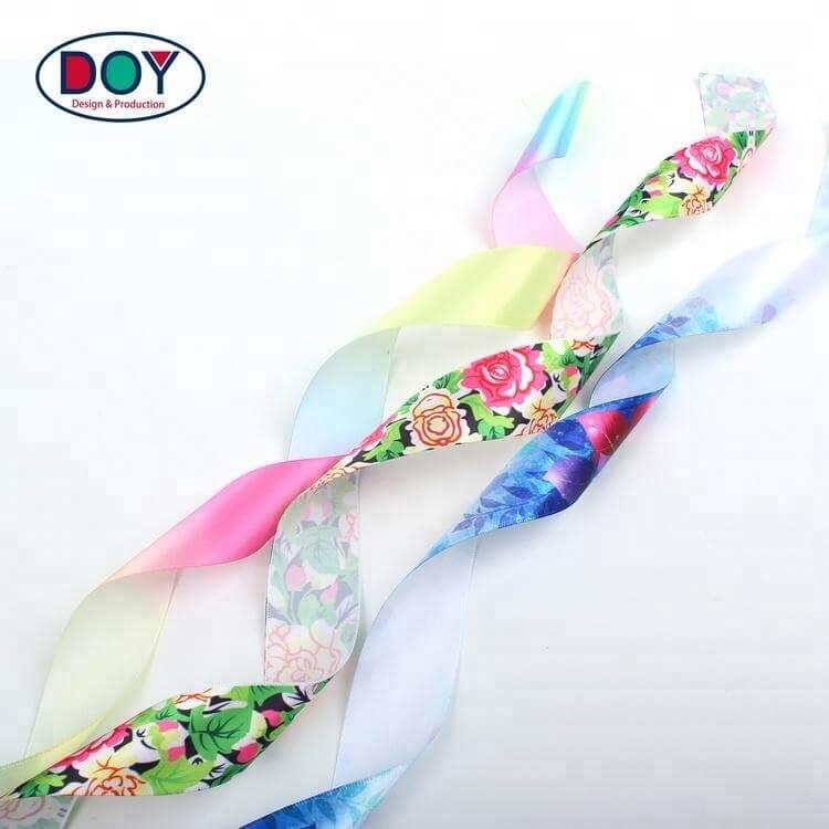 Sublimation Print Rainbow Satin Ribbon