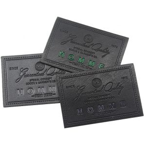 Custom Debossed TPU Logo Real Leather Labels Patches