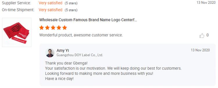 Woven Labels Customer Reviews-DOYLabel