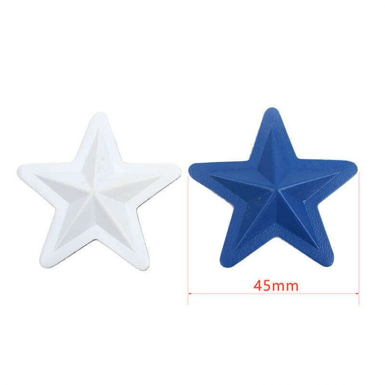 Wholesale 3D PU Leather STAR Embossed Patches