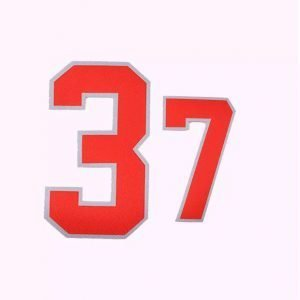 Custom Number Logo Sublimation Twill Patches for Sportswear