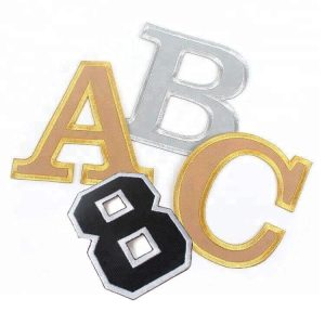Factory Supply Custom Letters Number Embroidered Border Patches