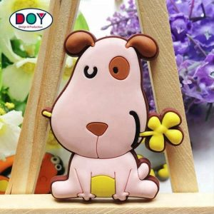 Custom 3D Cartoon Animal Logo Soft PVC Rubber Fridge Magnets